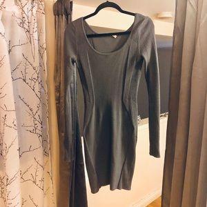 Helmut Lang bodycon wool long sleeve in SLATE